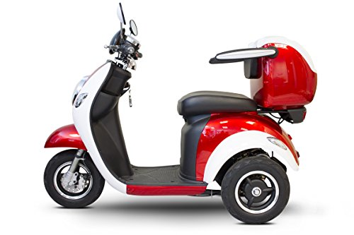Best Deals! E-Wheels – EW-37 Vintage Scooter – 3-Wheel – Red