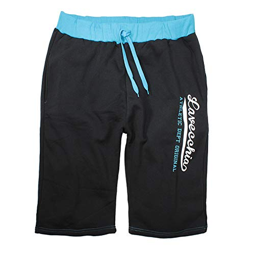 Lavecchia Men's Bermuda Shorts Turquoise-Black Big Sizes