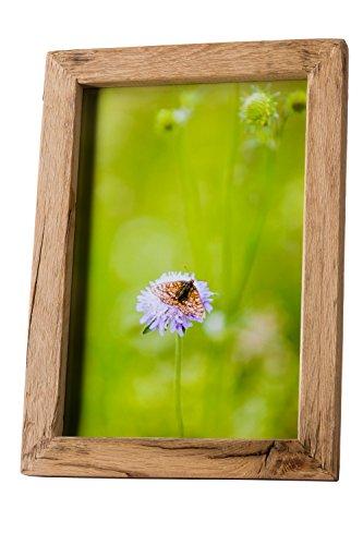 Alt-Holz Bilderrahmen alte Eiche Mittelschicht 60x80 – Rustikal und nachhaltig angefertigte Rahmen aus reiner Handarbeit als besonderes Geschenk (60 x 80)