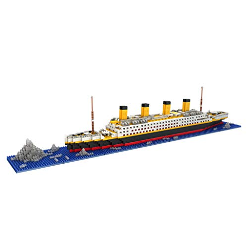 1860 Stücke Titanic Kreuzfahrtschiff Modell Baustein Set Micro Mini Blöcke DIY Spielzeug