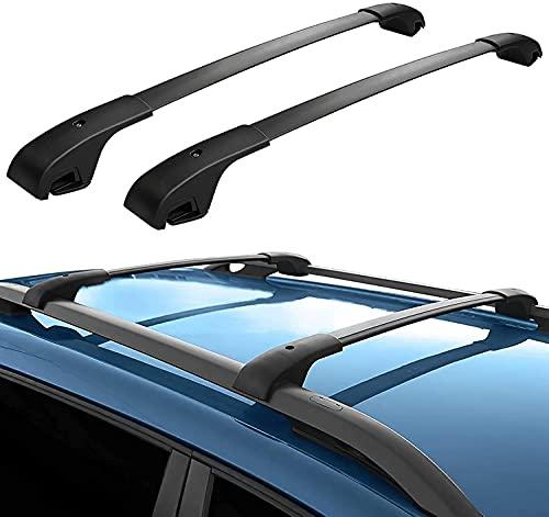 Portapacchi per Tetto Auto - Supporto Rack per Jeep Cherokee 2014-2020, Regolabile e Costante con Cinghie di Fissaggio