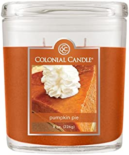 Colonial Candle 8-Ounce Scented Oval Jar Candle, Pumpkin Pie