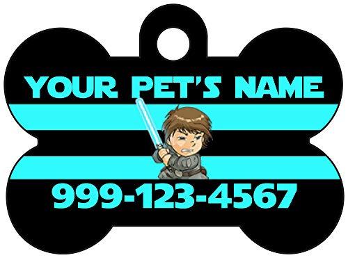 uDesignUSA Star Wars Luke Skywalker Pet Id Dog Tag Personalized w/Name & Number