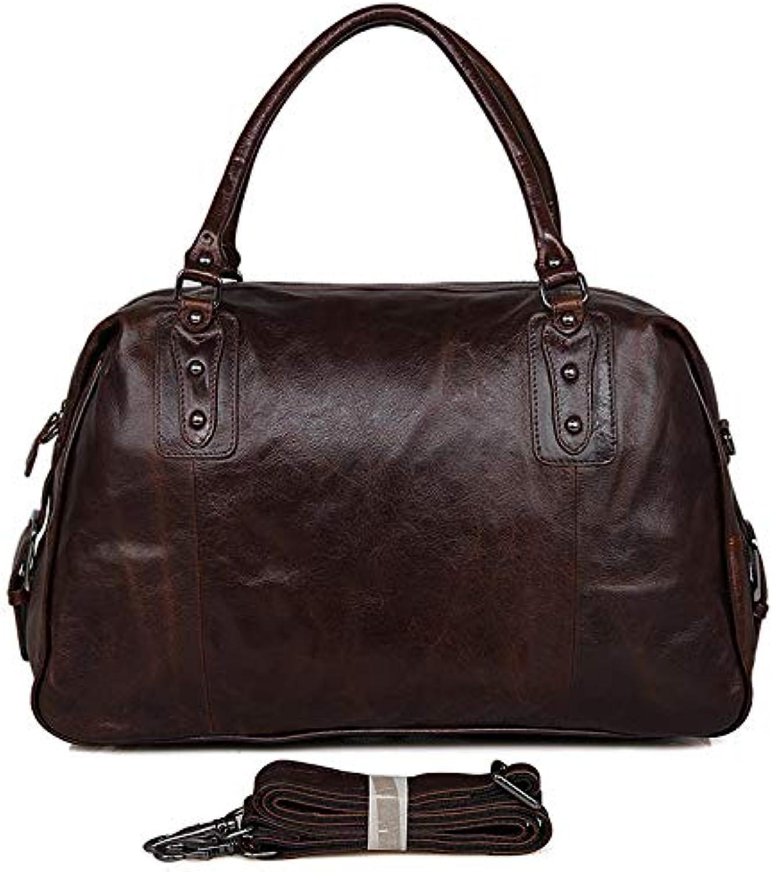 HHF Backpacks & Handbag Men's Tote Bag Medium Travel Bag Simple Vintage Leather Oil Wax Casual