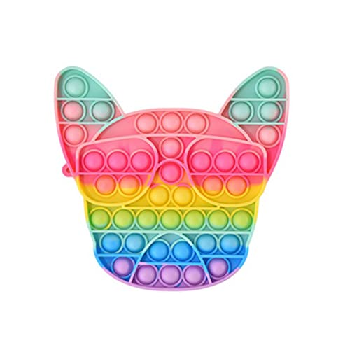 NOEARR Fidget Toy Silicona Sensorial Fidget Juguete Pop Push It Bubble Sensory Fidget Toys Regalos de Juguetes para Necesidades Especiales para niños y Adultos Cabecera de Perro 1