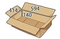 In The Box ダンボール 段ボール「衣類用J8 (594×414×高さ140mm) 10枚」茶色