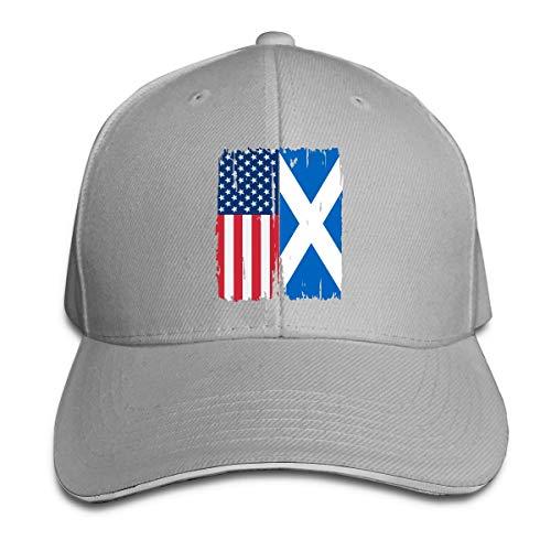 MASHRO mannen 'vrouwen' American Scotland Flag Baseball Cap Baseball Cap