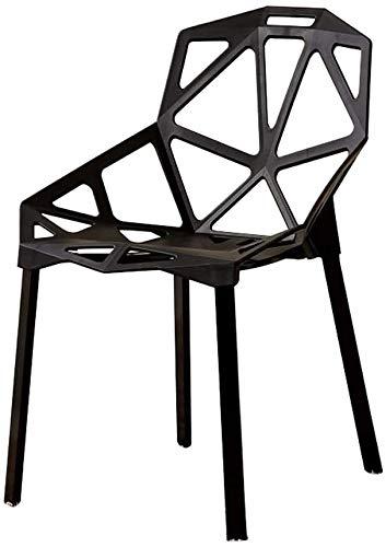 Sessel DBL Kunststoff-Stuhl, Möbel/ESS- / Schreibtisch/Outdoor/Empfang, Hohl Computer Stuhl (Color : Black, Size : 43x48x80cm)