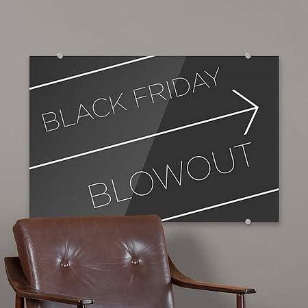 Basic Black Premium Brushed Aluminum Sign Black Friday Blowout 36x24 CGSignLab