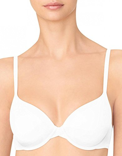 Calvin Klein Women's Perfectly Fit Lightly Lined Memory Touch T-Shirt Bra, White, 30C
