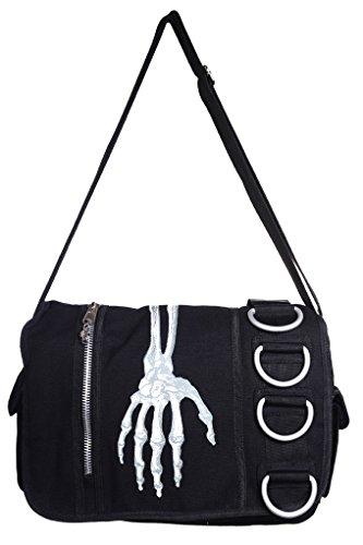 Banned esqueleto mano Messenger Bag