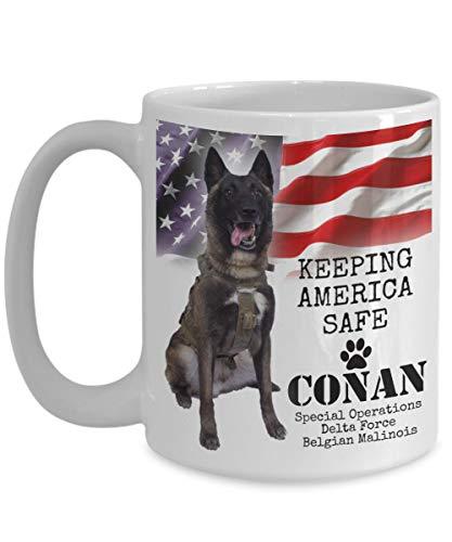 Conan Keeping America Safe Belgian Malinois Dog Kaffeetasse Geschenk 325 ml