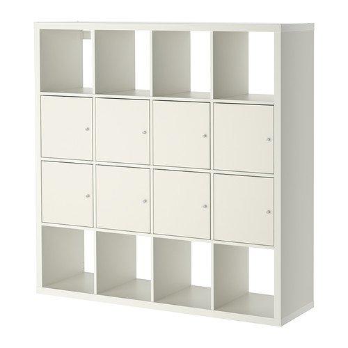 IKEA–estantería con 8insertos, blanco 26382.52314.1612