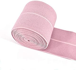 TMYQM 6cm Fold Over Elastic Band Loose Belt Clothing Accessories Rubber Band Underwear Dress Edging Waist Elastic Bands Accessories (Color : Pink)