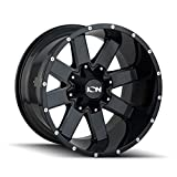 xd rims 17x10 - ION (141) BLACK Wheel with GLOSS MILLED SPOKES (0 x 9. inches /6 x 135 mm, 18 mm offset)