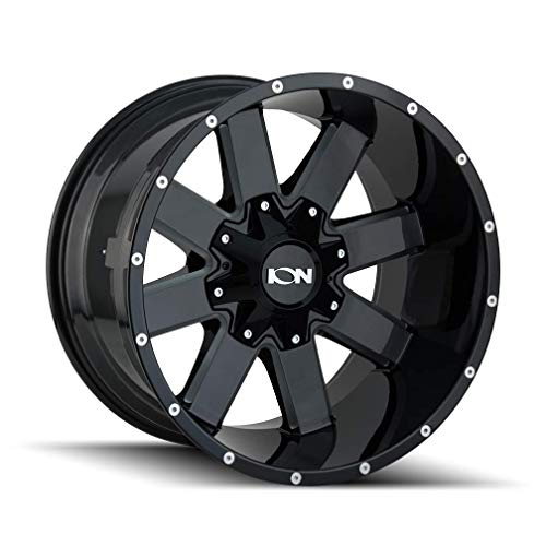 ION (141) BLACK Wheel with GLOSS MILLED SPOKES (0 x 9. inches /6 x 135 mm, 18 mm...