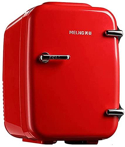 TANKKWEQ Pequeño refrigerador mini refrigerador y más cálido, 4 litros / 6 latas, portátiles y tranquilas, opciones de compatibilidad de energía AC + DC, para automóviles, casas, oficinas y dormitorio