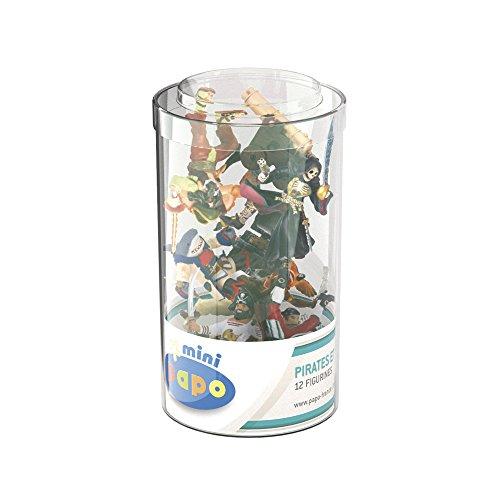 Papo- Mini Plus Pirates & Corsaires (Tube, 12 pcs) Pirate Figurines, 33017, Multicolore