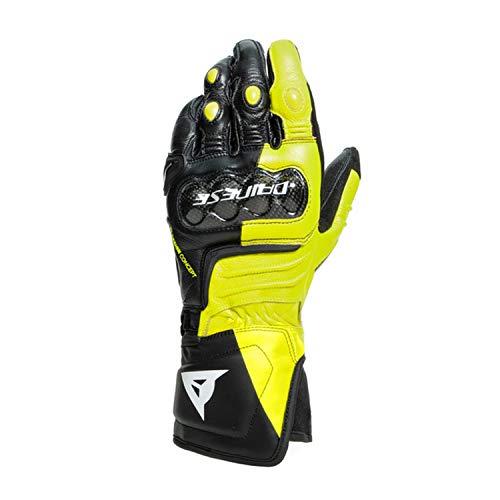 Dainese Carbon 3 Long Motorradhandschuhe Schwarz/Gelb 3XL