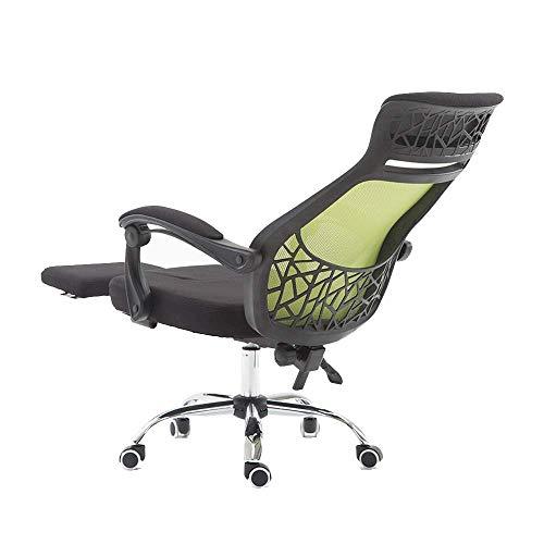 ch-AIR Bürodrehstuhl, Ergonomie Reclining Computer Chair Lifting Rotation Drehstuhl mit Fußstütze Chefsessel Nennbelastbarkeit: 550lbs,Blackgreen