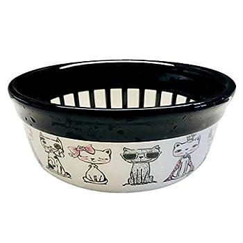 Chiens Gamelles et distributeurs Pet Grand Bol en céramique Bol pour Chien Bol pour Chien Bol de Chat Bassin de Chat Bol d'eau Bol Alimentaire (Noir) Chiens Gamelles (Color : Black)