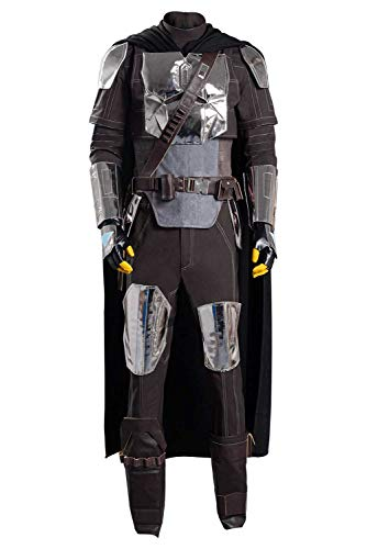 The Mandalorian Costume Outfit Season 2 Halloween Cosplay Uniform for Adult Men (S, As Shown)