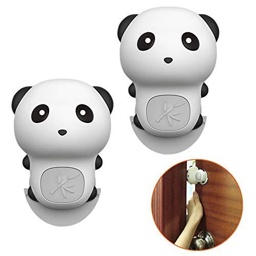GINOYA Silicone Pinch Guard, 2pcs Panda Door Slam Stopper for Prevent Kids and Pet Finger Injuries, Door Slams, Getting Locked
