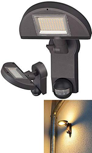 Brennenstuhl LED-Strahler Premium City LH562405, PIR, Aluminium, anthrazit, 23 x 26 x 22,7 cm