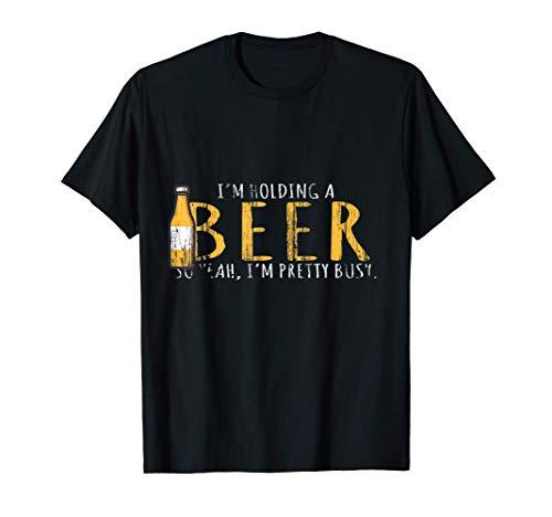 Regalo para beber, tengo una cerveza en la mano Camiseta
