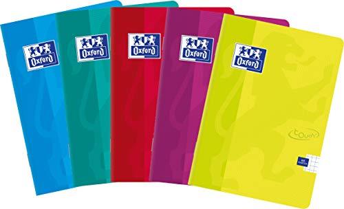 Oxford 400074876Touch grapadora de 60hojas A5, de cuadros, paquete de 5unidades Sobres Colores Mix