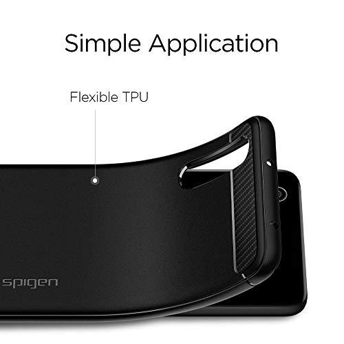 Rugged Armor für Huawei P20 PRO Hülle TPU Silikon Schutzhülle Stylisch Karbon Design Handyhülle Case – Schwarz - 4