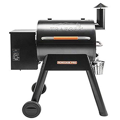 Discover Bargain Traeger TFB38TOD Renegade Pro Wood Pellet Grill, Black/Orange with Everyday BBQ Coo...