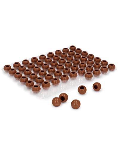Pati-Versand Hohlkugeln Vollmilch | 1 Folie Pralinen-Kugeln zum Befüllen | je 63 Stück