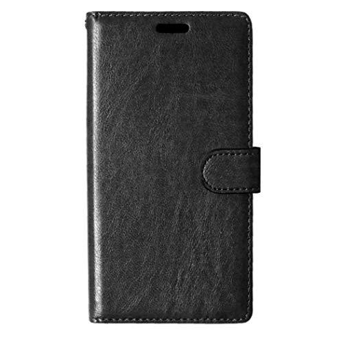 LG G4 Hülle, CAXPRO® Handyhülle Premium Leder Brieftasche Flip Schutzhülle mit Standfunktion und Kartenfach für LG G4, Schwarz