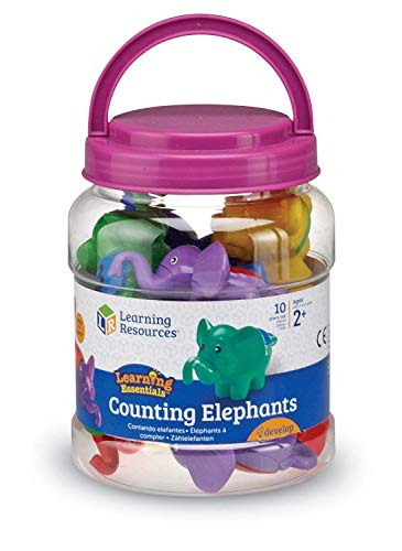 Learning Resources- Elefanti Snap 'n' Learn, Colore, LER6703