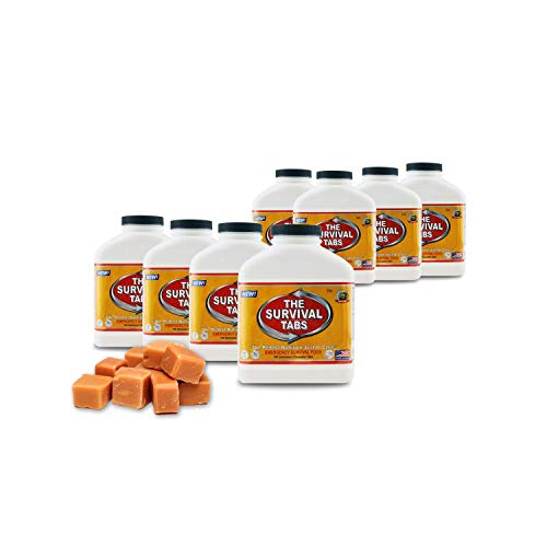 4 months noprep basic food supply emergency food supply 25 year shelf life butterscotch8 bottles x 180 tabs