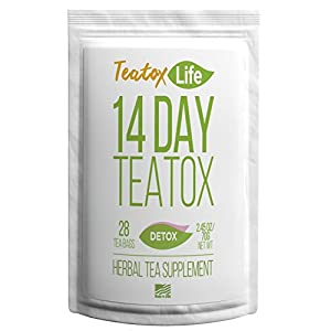 Detox products Dandelion Root Tea Skinny Mint Teatox Detox Tea with Ginger, Red Clover, Senna |