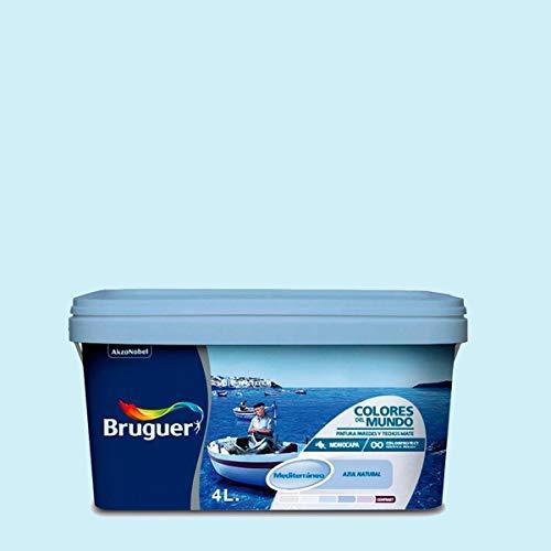 Bruguer 5056896 Wandfarbe Colores del Mundo, 4 l, mediterranes zartes Blau