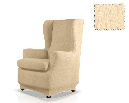 JM Textil Copripoltrona Elasticizzato con Orecchie Haber Dimensione 1 Posto (Standard), Colore 00 (Vari Colori Disponibili.)