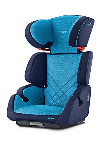 RECARO Siège Auto Groupe 2/3 Milano Seatfix Xenon Bleu