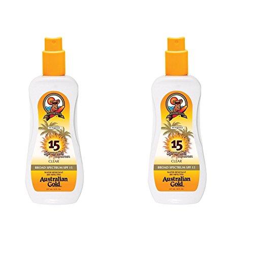 Australian Gold Spf#15 Spray Gel Ultimate Hydration 8 Ounce (235ml) (2 Pack)