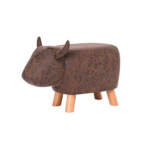 XJAXY Tier-Kind-Ottoman, Kinder Fußraste Hocker, Cartoon Pouffe Trittschemel, Kreativ & Cute Chair Geschenke, Durable Beine, Für Kinderzimmer, Schlafzimmer, Spielzimmer & Wohnzimmer,B