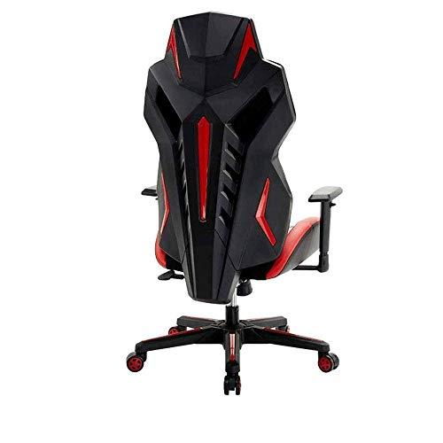 MMPY Bürostuhl -Aufgabe Stuhl Gaming Bürostuhl, Leder Swivel Racing Gaming Stuhl mit hoher Rückenlehne Reclining Tilt Schalensitz Bürostuhl Verstellbarer