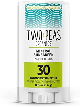 Two Peas Organics Sunscreen Stick All Natural Organic Mineral Face Sunscreen Baby Kid Family product image