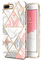 i-BLASON iPhone 8 Plus / 7 Plus ケース 女性向け おしゃれ 耐衝撃 綺麗 かわいい [Cosmo Lite] (iPhone7/8Plus, マーブル)