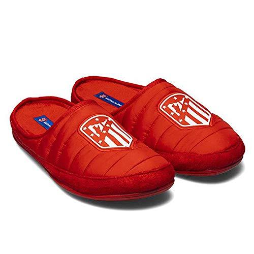 Zapatillas Oficiales Atlético de Madrid Amatista Rojo Zapatillas de Estar por casa Hombre Invierno Otoño - 42.5 EU