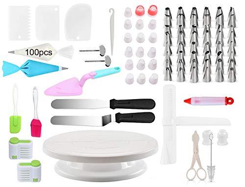 BAKEGG 186 pcs Cake Decorating Tools Combo Sets Cupcake Bakery Kichen Baking Accessories Kits