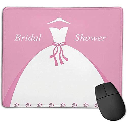 Muis Pad Bruids Douche Decoraties Bruid Party Bruiloft Jurk met Schaduw Achtergrond Afbeelding Licht Roze en Wit ol Office m