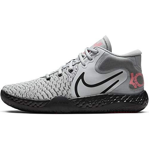 Nike Mens KD Trey 5 VIII Basketball Shoes (Light Smoke Grey/Laser Crimson/Black, Numeric_12)