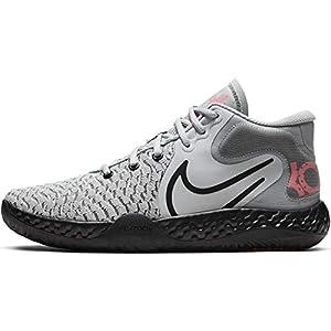 Nike Mens KD Trey 5 VIII Basketball Shoes (Light Smoke Grey/Laser Crimson/Black, Numeric_9_Point_5)